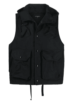 Engineered Garments hooded utility gilet - Black