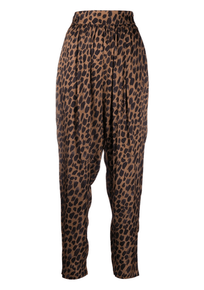 8pm leopard-print trousers - Brown