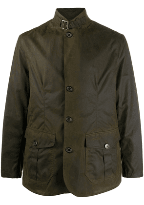 Barbour wax coated high-neck jacket - Green