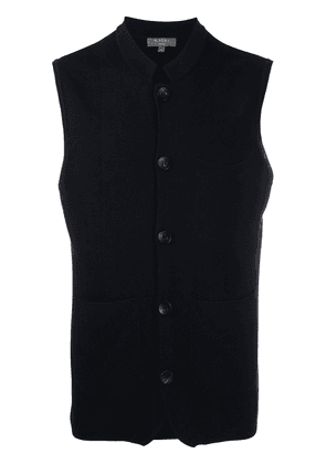 N.Peal silk and cashmere waistcoat - Blue