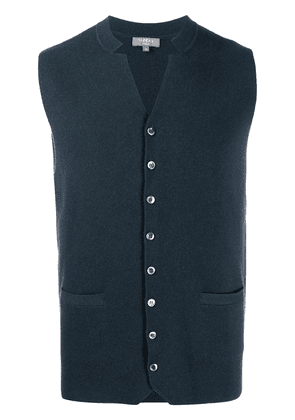 N.Peal Milano collared cashmere waistcoat - Blue