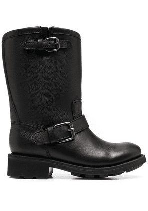 Ash buckle-strap calf-length boots - Black