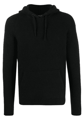 Roberto Collina hooded patch-pocket sweater - Black