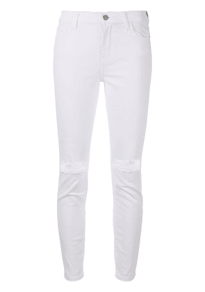 Current/Elliott ripped detail jeans - White