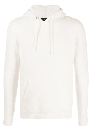 Roberto Collina hooded patch-pocket sweater - White