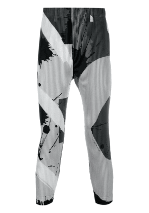 Homme Plissé Issey Miyake A-Poc pleated trousers - Grey