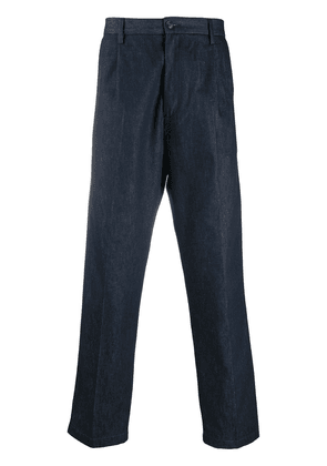 Closed tapered denim trousers - Blue