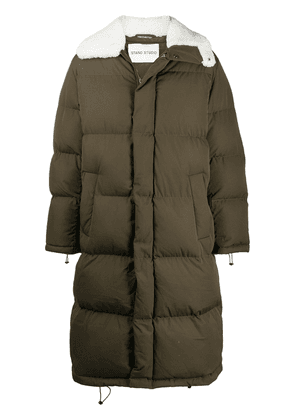 STAND STUDIO faux shearling trimmed coat - Green