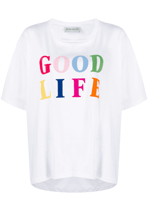 Être Cécile Good Life organic cotton T-shirt - White