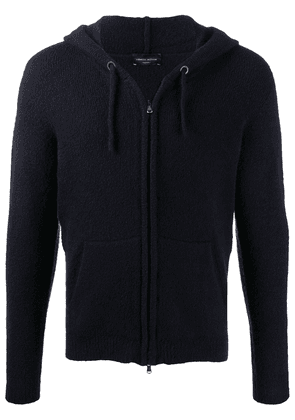 Roberto Collina knitted zip-up hoodie - Blue