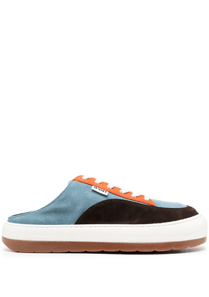 Sunnei lace-up suede trainers - Blue