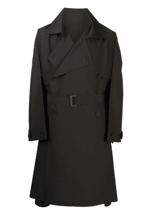 Homme Plissé Issey Miyake loose double-breasted trench coat - Brown