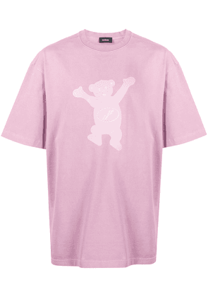 We11done bear print T-shirt - PINK