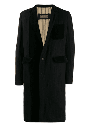 Uma Wang classic single-breasted coat - Black