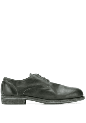 Guidi contrast stitching derby shoes - Black