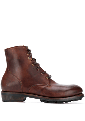Ajmone ankle lace-up boots - Brown