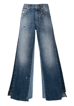 Department 5 panelled wide-leg jeans - Blue