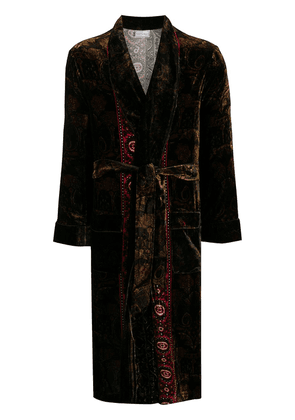 Pierre-Louis Mascia tied knee-length robe - Brown
