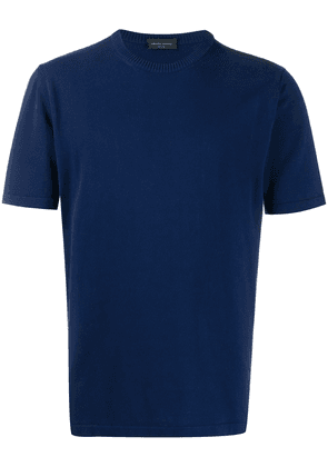 Roberto Collina short-sleeve fitted T-shirt - Blue