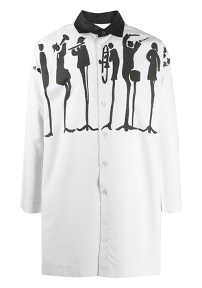 Homme Plissé Issey Miyake graphic-print knee-length shirt - White