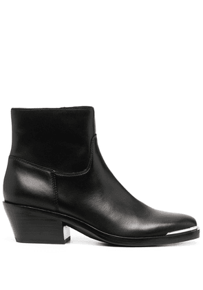 Ash zipped ankle boots - Black