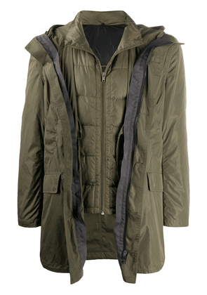 Yves Salomon two in one jacket - Green