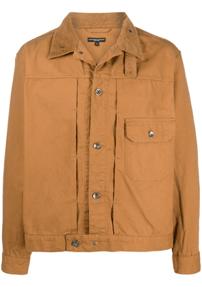 Engineered Garments panelled long-sleeve shirt jacket - Brown