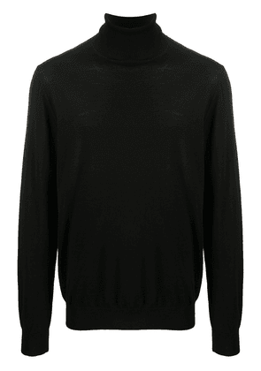 Closed roll neck jumper - Black