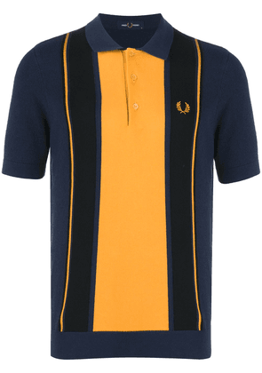 Fred Perry striped knit boucle polo shirt - Blue