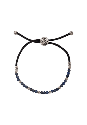 John Hardy Silver Classic Chain Lapis Lazuli Bead Pull Through Bracelet - Blue
