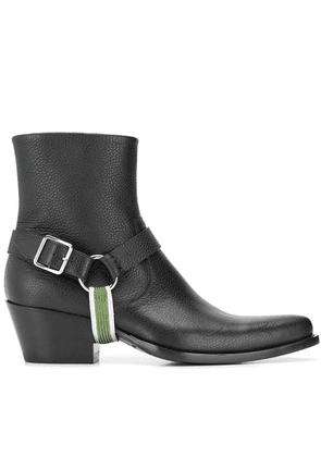 Calvin Klein 205W39nyc textured ankle boots - Black