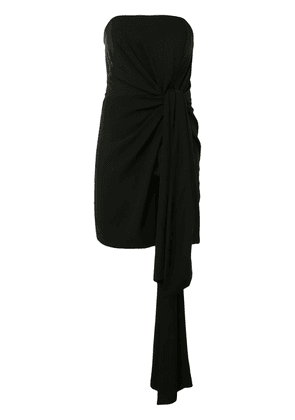 16Arlington strapless draped mini dress - Black