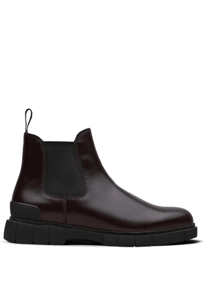 Car Shoe two-tone leather ankle boots - Brown