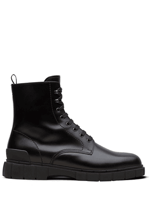Car Shoe leather ankle boots - Black