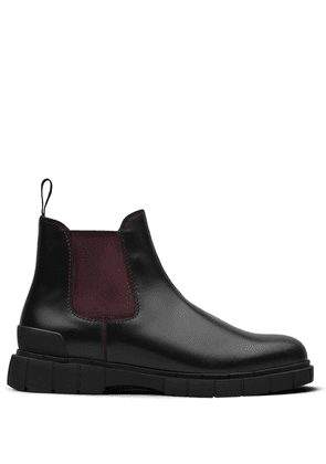 Car Shoe two-tone leather ankle boots - Black