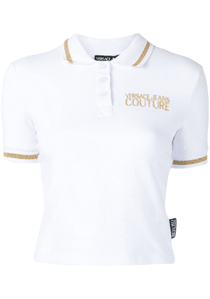 Versace Jeans Couture embroidered logo polo shirt - White