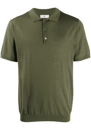 Closed short sleeve wool polo shirt - Green