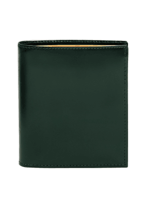 Green and Tan Bridle Hide Mini Wallet with 6 C/C