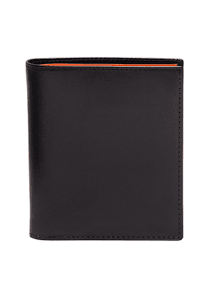 Black and Orange Leather Sterling Mini Wallet with 6 C/C
