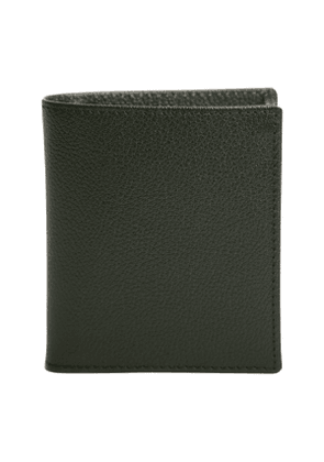 Forest Green Leather Capra Mini Wallet with 6 C/C