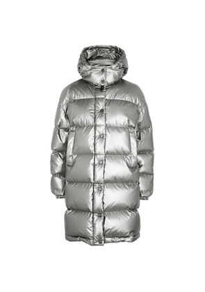 Moncler Gaou Metallic Silver Quilted Jacket