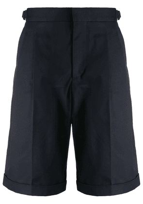 Alexander McQueen mid-length tailored shorts - Blue