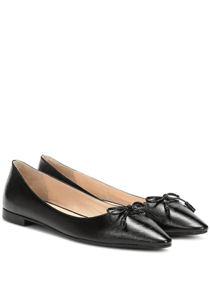 Embossed leather ballet flats