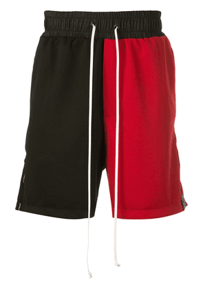 Daniel Patrick colour block track shorts - Black