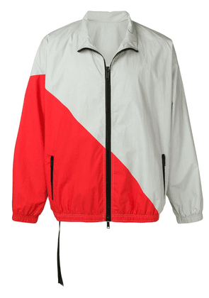 UNRAVEL PROJECT contrasting panels windbreaker - Grey