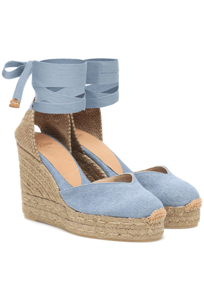 Chiara denim wedge espadrilles