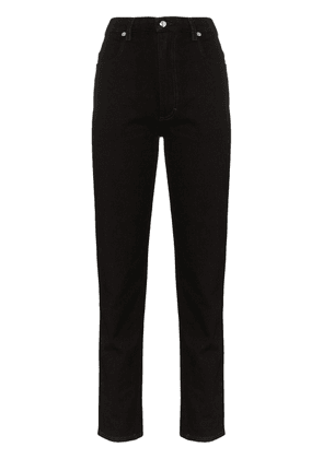 Eckhaus Latta high-waist straight-leg jeans - Black