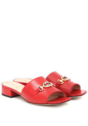 Gucci Zumi leather sandals