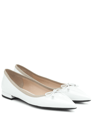 Patent-leather flats