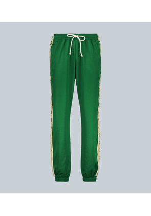 GG-trimmed relaxed-fit trackpants